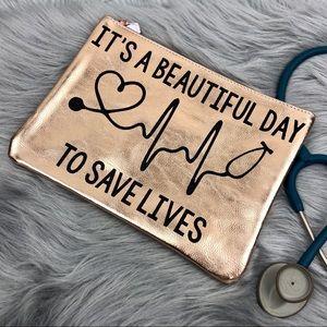 Beautiful Day To Save Lives Nurse Stethoscope Bag